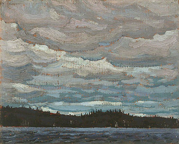 Tom Thomson Lake, Hills and Sky, 1916 Oil on Wood 21.4 x 26.7 cm