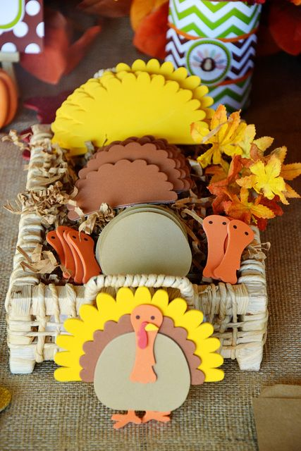 "Photo 44 of 48: colorful chevron/polkadots / Thanksgiving/Fall ""Thanksgiving playdate - FREE printable"""