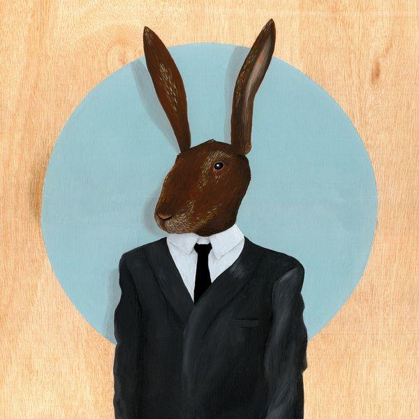 David Lynch   Rabbit Art Print by FAMOUS WHEN DEAD   Society6