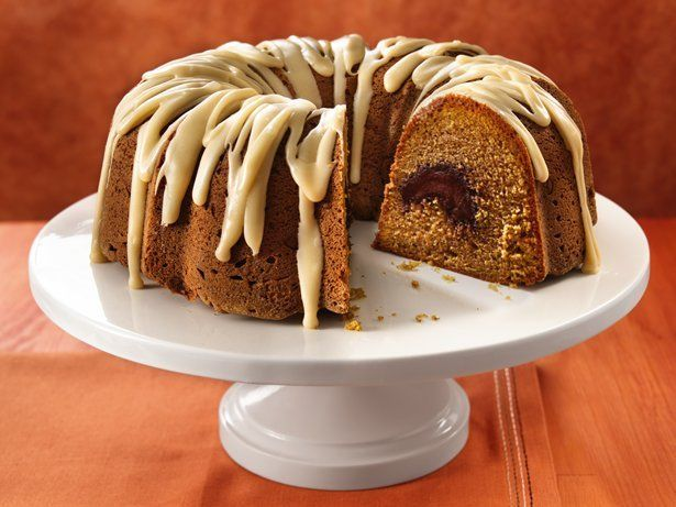 Pumpkin Truffle Pound Cake with Browned Butter Icing by Betty Crocker