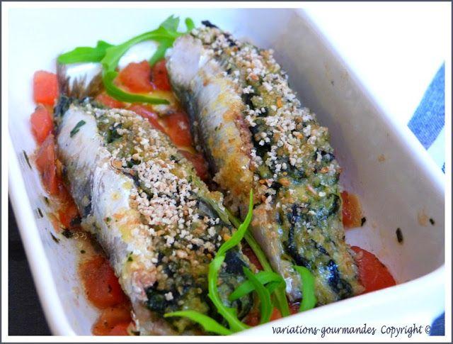 Les sardines farcies à la niçoise
