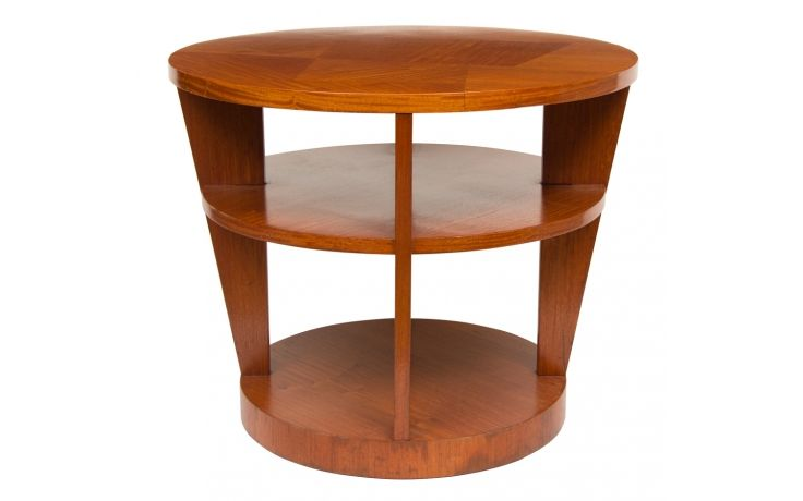Art Deco Satinwood 3 Tier Table French C 1930 Art Deco Satinwood Art Deco Furniture