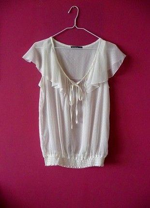 Kup mój przedmiot na #vintedpl http://www.vinted.pl/damska-odziez/bluzki-z-krotkimi-rekawami/10890381-atmosphere-cienka-zwiewna-bluzka-koszula-nude-bezowa-kropki-retro-vintage-romantyczna-mgielka