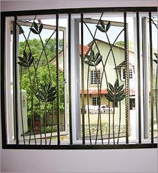 Marvelous Wrought Iron Window Grille Design