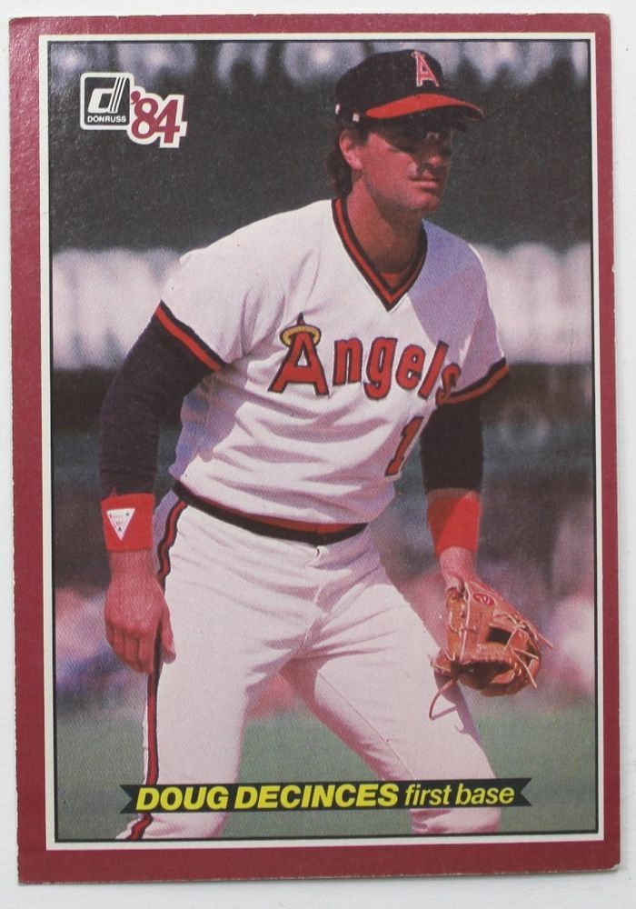 Donruss Large Baseball Card Doug Decinces 1984 Card 6 Angels
