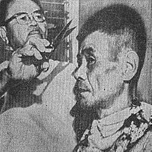 Japanese WWII Soldier Found Hiding in Guam Jungle (1/24/1972)  3/31/1915--9/22/1997 Yokoi's first haircut in 28 years) 	 	Shoichi Yokoi was a Japanese soldier who went into hiding in the jungles of Guam in 1944 as Allied forces took the island; 28 years later, he was still there. He had hidden in an underground cave, fearing to come out of hiding even after finding leaflets declaring that WWII had ended. In 1972, he was found by hunters and returned to Japan.