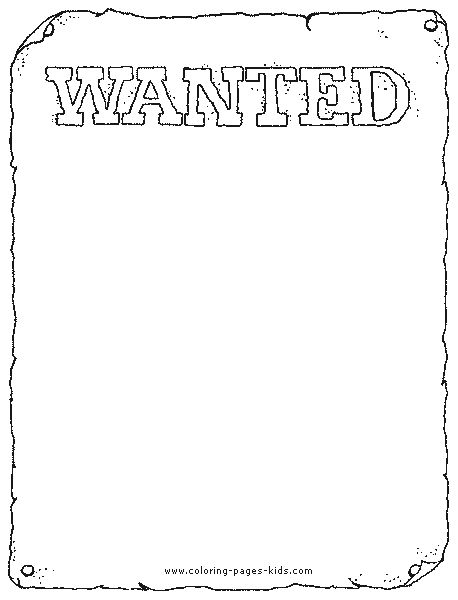 the wanted coloring pages - photo#1