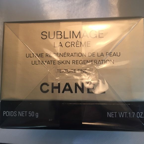 Chanel Sublimage la Creme skin regeneration Chanel Sublimage la Creme ultimate skin regeneration 1.7 ounces.   New in packaging never opened never used.    Please check product details on Nordstrom website http://m.shop.nordstrom.com/s/chanel-sublimage-la-creme-texture-supreme/3142689.   Pls note Chanel makeup products don't have price tags. CHANEL Makeup