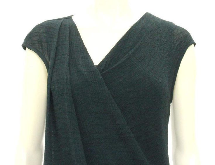 A shift so chic, you'll freak! This textured dress features a V-neckline, shoulder pleat, full lining, and a frayed hemline. Illinois law shall govern this sale. Let us be your one-stop drop-off service provider.   eBay!