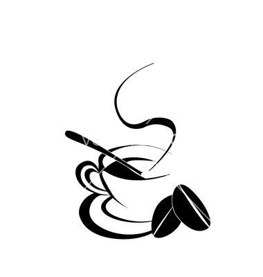 Coffee cup silhouette vector: