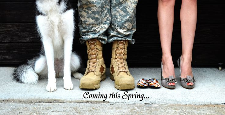 Our pregnancy announcement <3 I'd have to get Chris to keep his uniform on long enough to snap a picture