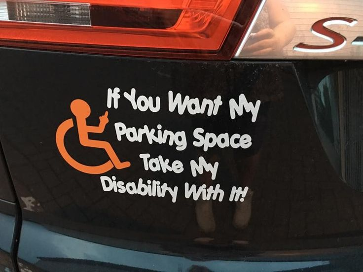 Take my disability vehicle sticker Sticker will stick to any smooth hard surface…