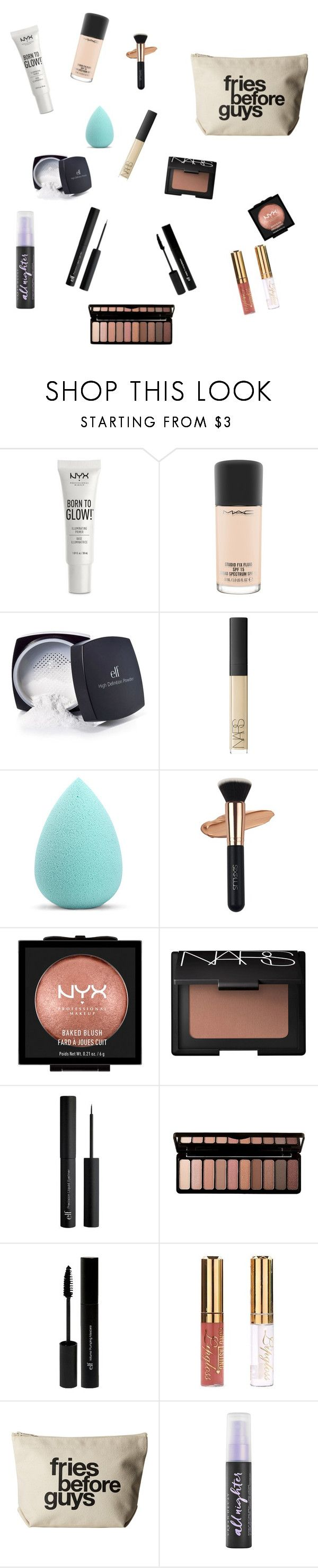 """Natural Look"" by abbyharper on Polyvore featuring NYX, MAC Cosmetics, e.l.f., NARS Cosmetics, My Makeup Brush Set, Dogeared and Urban Decay"