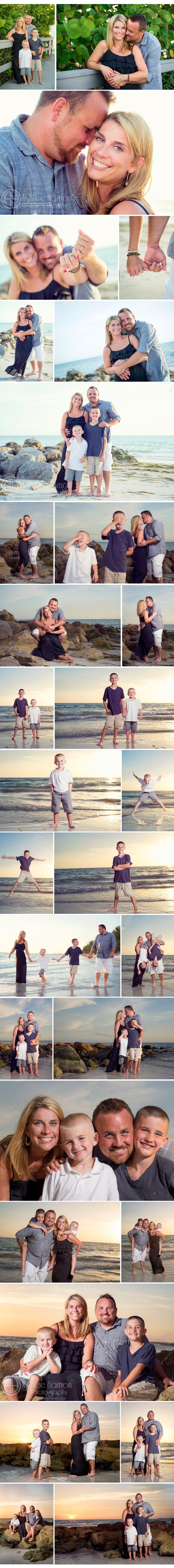 Beach Sunset Family Photos  www.ashleehamon.com