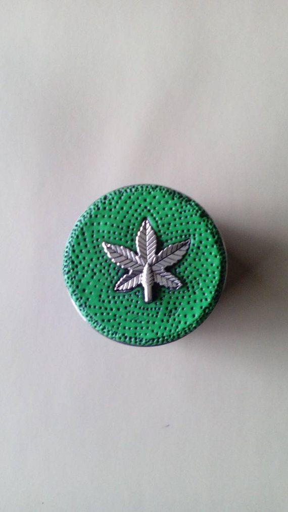 4 layer herb grinder. Polymerclay cannabis by Miasdreadlockbeads