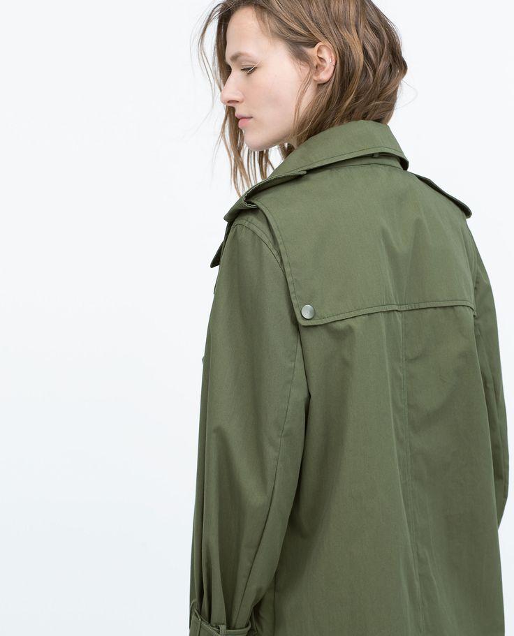 Mantel in Oversize aus Baumwolle von Zara