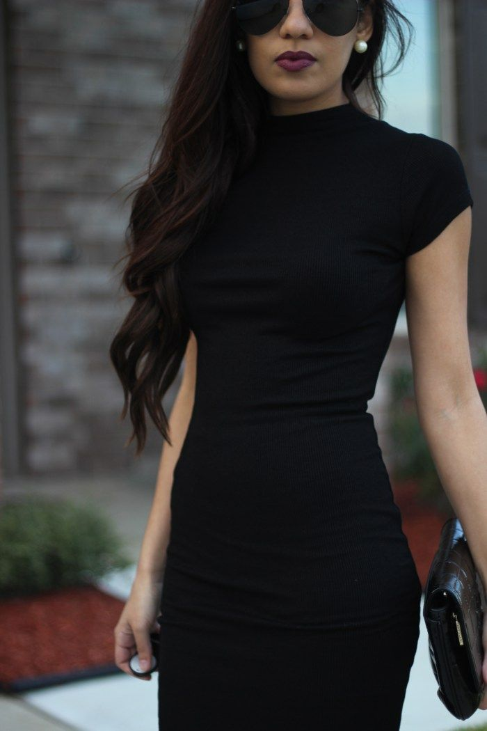Fitted Black Dress | Truth or Flares