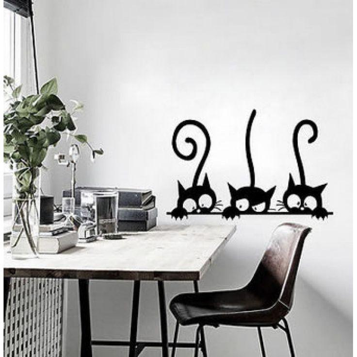 Fekete macskák faldekoráció