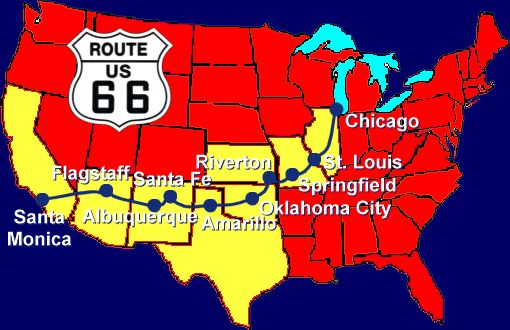 "U.S. Route 66 (multiple states).  I want to drive it all, to see all that is left of the ""Mother Road.""  The drive-ins, the old hotels, the roadside attractions - they were all part of an era when getting there was half the fun, which appeals to me."