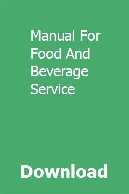 Food And Beverage Service Book Pdf