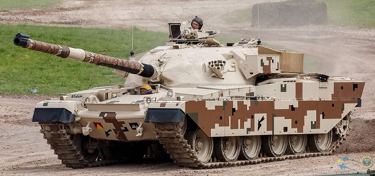 """Khalid MBT (Jordan) In 1974 Iran ordered an upgraded version of the Chieftain MBT. The order was cancelled after the 1979 revolution and none were delivered. However, Jordan ordered 274 of the new tanks, with delivery starting in 1981. The Khalid, or """"sword"""" is a late model Chieftain with an improved power-plant and fire control system. The tank became the basis for the Challenger I."""