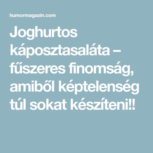 Joghurtos káposztasaláta – fűszeres finomság, amiből képtelenség túl sokat készíteni!!
