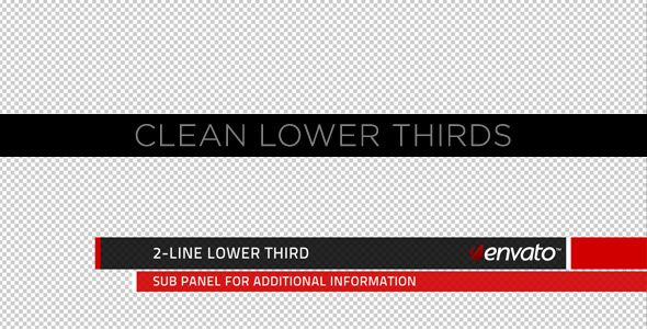 Clean Lower Thirds customizable After Effects lower third project template for video.