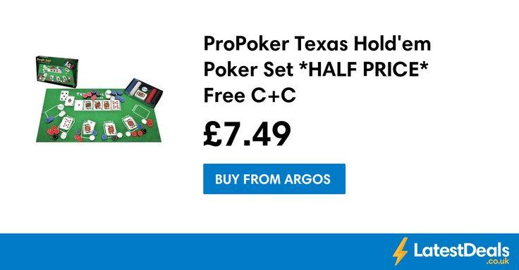ProPoker Texas Hold'em Poker Set *HALF PRICE* Free C+C, £7.49 at Argos