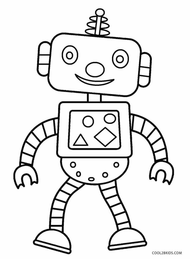 Free Printable Robot Coloring Pages For Kids | Coo…