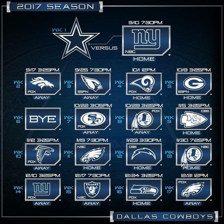 Colorado Eagles Schedule: The 25+ Best Dallas Cowboys Schedule 2017 Ideas On Pinterest