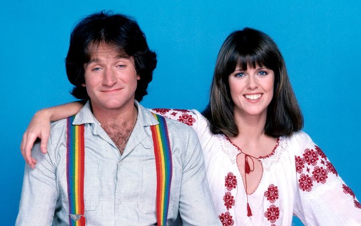 Bizarre television comedy with Robin Williams as Mork from Ork, who is an alien sent to Earth in an egg, to investigate Earth and report back to his superiors.