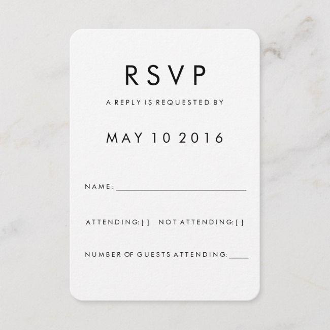 Futura Modern Rsvp Card Zazzle Com Rsvp Card