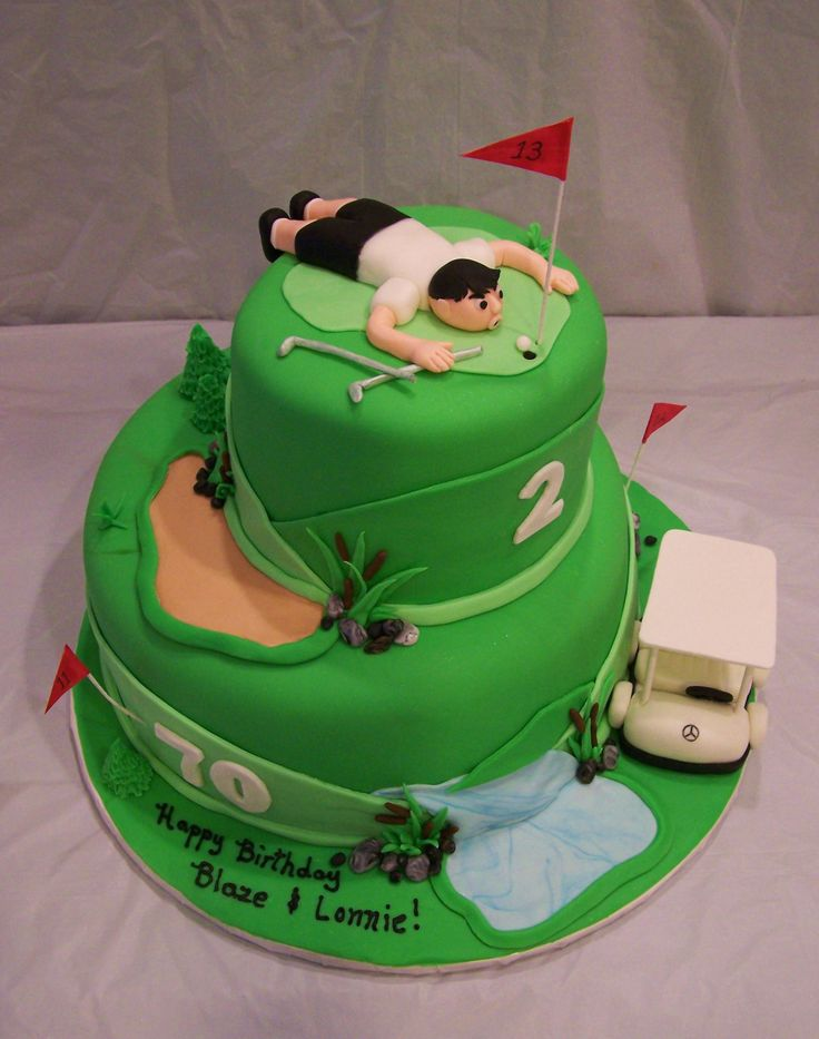Golf Themed Birthday Cake Idea Cakes Gallery