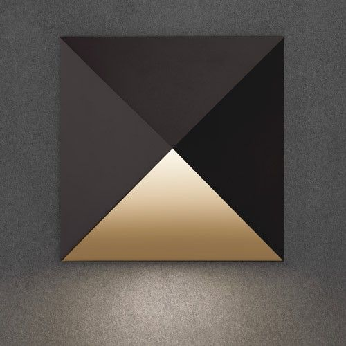 A prism in form, light is directed downward from the open face of the Prism Outdoor LED Wall Sconce. http://www.ylighting.com/blog/sonneman-inside-outdoor-lighting-collection/