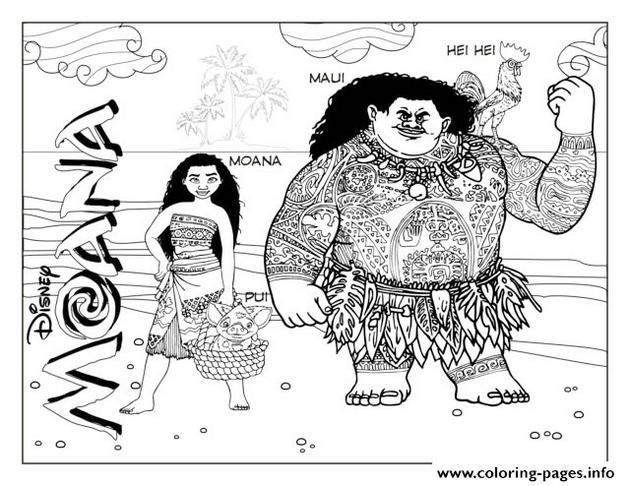 moana and maui disney coloring pages printable and coloring book to print for free find more coloring pages online for kids and adults of moana and maui