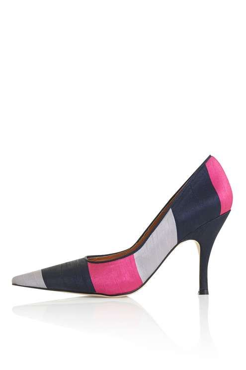 GLAM Striped Court Shoes