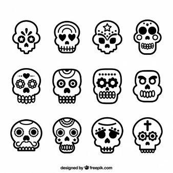 Crânios do açúcar ícones