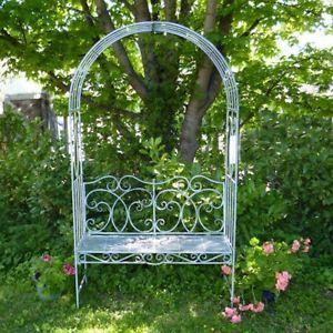 Metal Garden Bench Seat With Arch Garden Arbour Garden Arch with Bench Pergolas | eBay