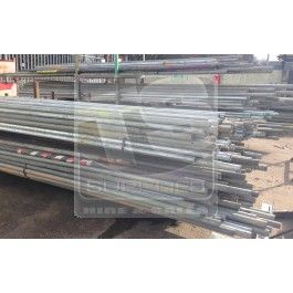 Used scaffolding pipes  http://totalscaffoldingsupplies.co.uk/scaffolding/scaffolding-tube-4.html