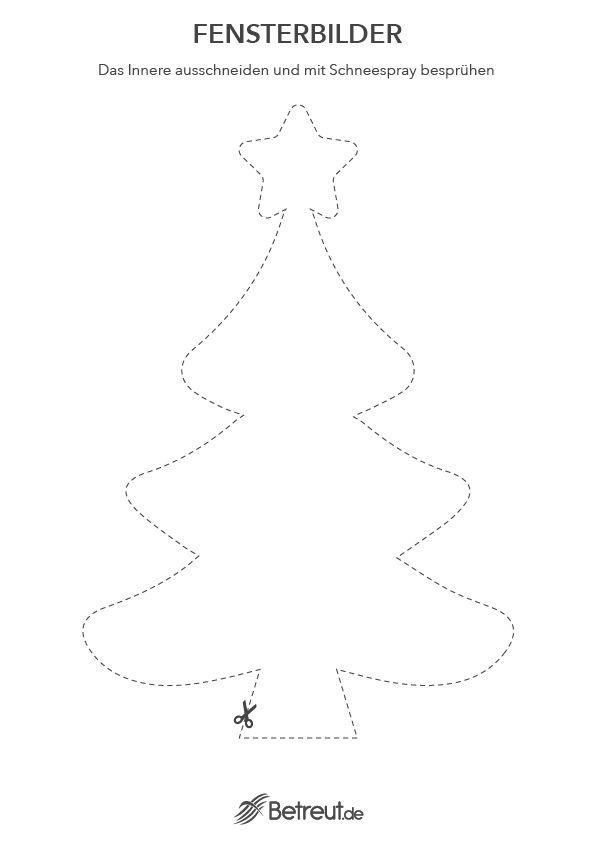 Schneespray Schablone Weihnachtsbaum Als Fensterdekoration Zu Weihnachten Bastelvorlagen Weihnachten Ausdrucken Bastelvorlagen Weihnachten Weihnachtsvorlagen