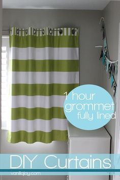 Easy DIY grommet-top, FULLY LINED curtain tutorial @vanillajoyblog #curtains #homedec