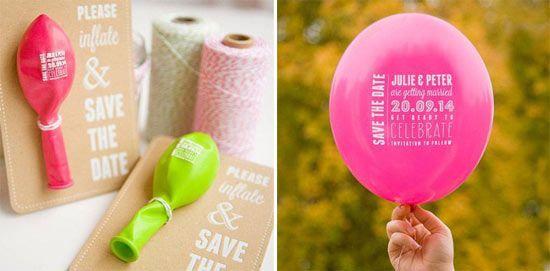 Idee per partecipazioni di nozze in primavera/estate: originali e divertenti - palloncino