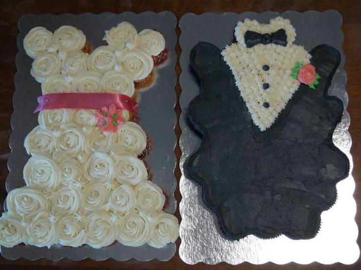 Co Ed Bridal Shower Bride Groom Cupcake Cakes Bridal