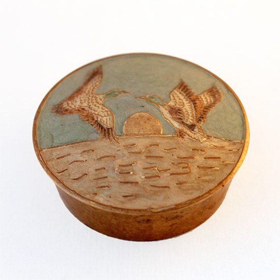 Ducks Jewelry Box by ProsteRzeczy on Etsy, zł40.00