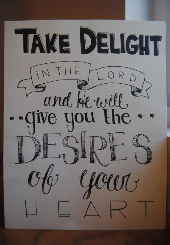 Hand Lettered Bible Verse Print by TheDelightfulFox on Etsy, $15.00