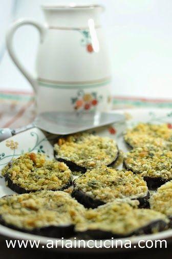Melanzane panate alle erbe, cotte in forno Blog di cucina di Aria