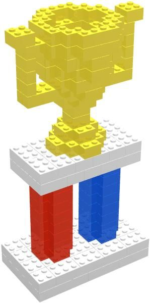 Fascinating LEGO® Model of the Day: Trophy (with instructions!)