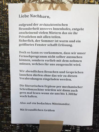 Laute Nachbarn Innenhof Berlin