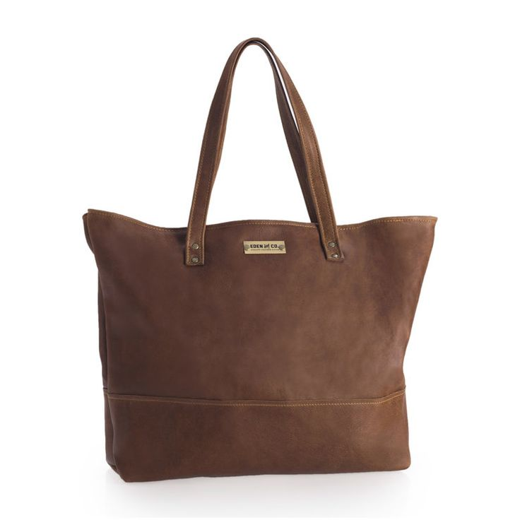 Genuine leather Tote bag, handmade by Eden&Co Quality Leather Goods. www.edenleatherco.com