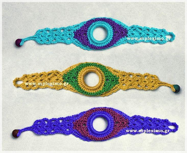 crochet bracelets, from mpleximo.gr
